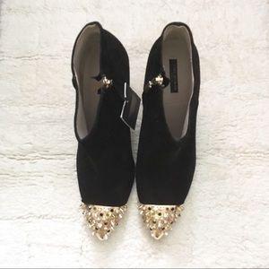 Zara Suede High Heel Ankle Boot